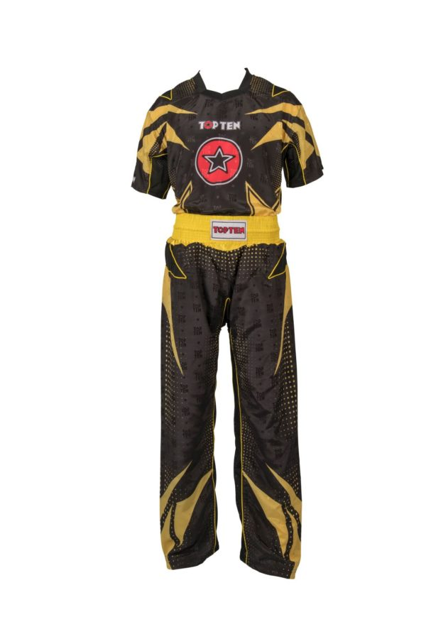 TOP TEN Kickbox Uniform Future Schwarz-Gelb