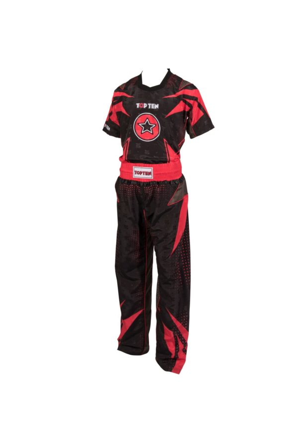 TOP TEN Kickbox Uniform Future Schwarz-Rot