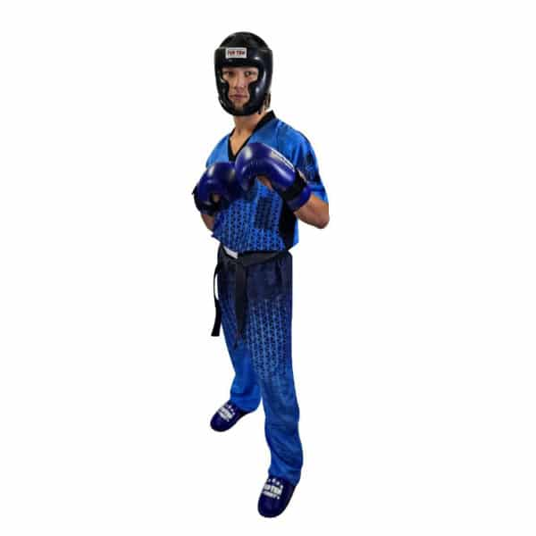 TOP TEN Kickbox Uniform Grafic Blau